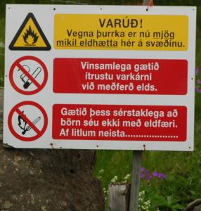 varúð vegna gróðurelda
